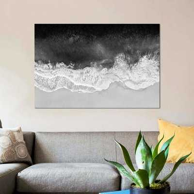 'Waves in Black and White' Graphic Art Print on Canvas - Wayfair