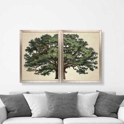 Strutt Tree Duo by Jacob George Strutt Framed Painting Print - Wayfair