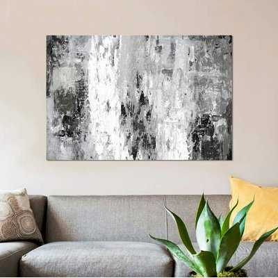 'Black And White Abstract IV' Print on Canvas - Wayfair