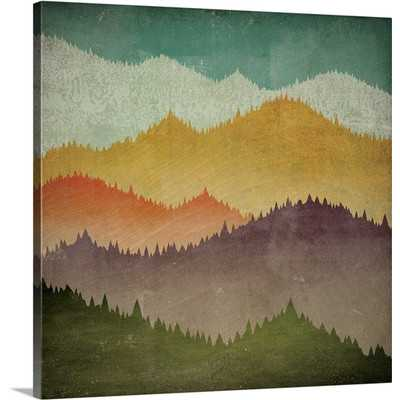 'Mountain View' by Ryan Fowler Graphic Art Print - Wayfair