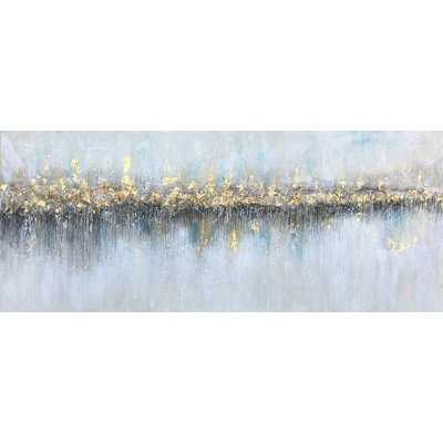 'Glowing from Afar' 100% hand-painted on Wrapped Canvas - Wayfair