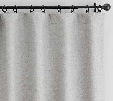 "Calhan Tweed Drape, 50 x 108"", Gray Fleck - Pottery Barn"