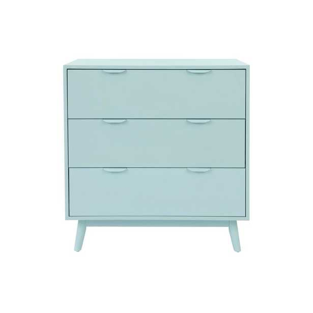 StyleWell Amerlin Seafoam Wood 3 Drawer Chest of Drawers (31.5 in W. X 32.68 in H.) - Home Depot