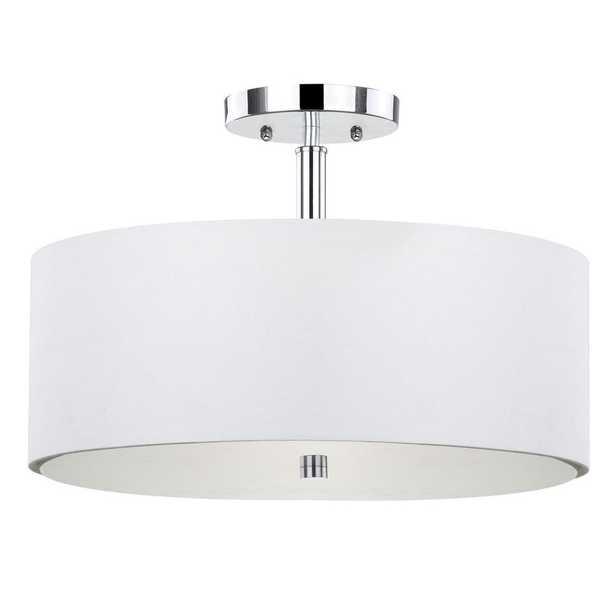 Safavieh Clara 3-Light Chrome Semi-Flush Mount Light - Home Depot