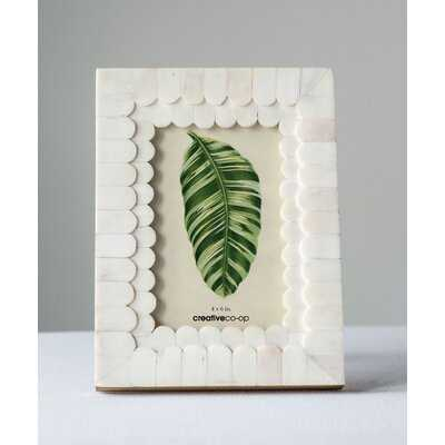 Ishee Scalloped Bone and Wood Picture Frame - Birch Lane