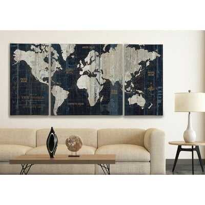 Ulysses Vintage-Style World Map Art Print - Birch Lane