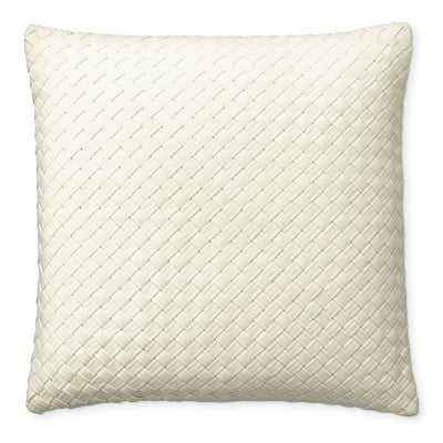 "Baileywick Woven Linen Pillow Cover, 22"" X 22"", Oyster - Williams Sonoma"