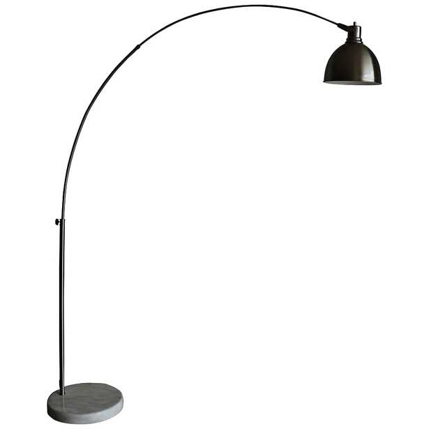 Aria Brushed Steel Arch Floor Lamp with Swivel Studio Head - Style # 55T65 - Lamps Plus