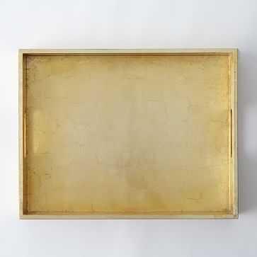 "Wood Tray, 14""X18"", Gold - West Elm"