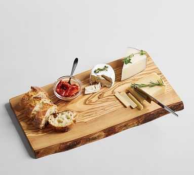 Olive Wood Rustic Edge Cheese Board - Pottery Barn