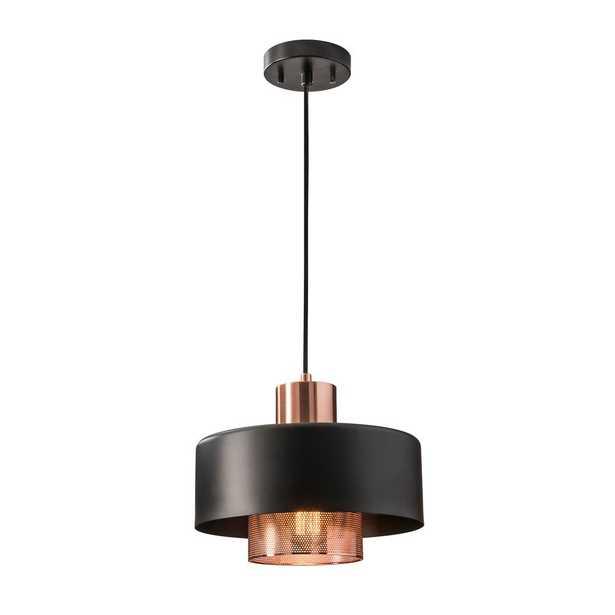 Adesso Bradbury 1-Light Copper Pendant - Home Depot