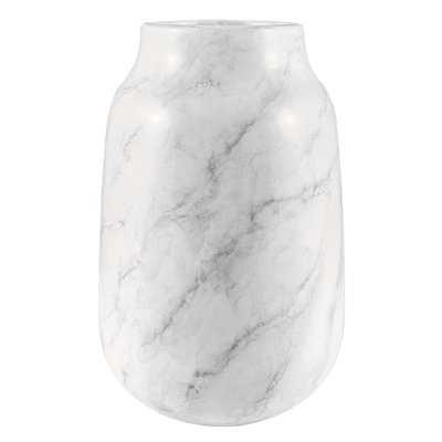 White Faux Marble Table Vase - AllModern