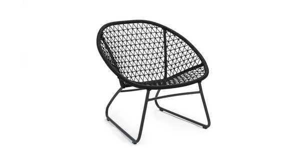 Bene Graphite Black Lounge Chair - Article
