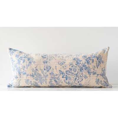 Jamil Chambray Lumbar Pillow - Birch Lane