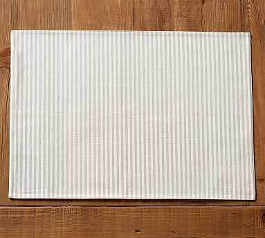 Wheaton Stripe Placemat, Set of 4 - Flax - Pottery Barn