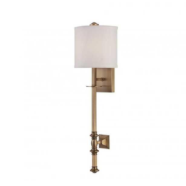 Filament Design Menhir Warm Brass Wall Sconce - Home Depot