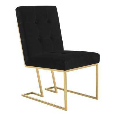 Samuel Velvet Side Chair - Wayfair