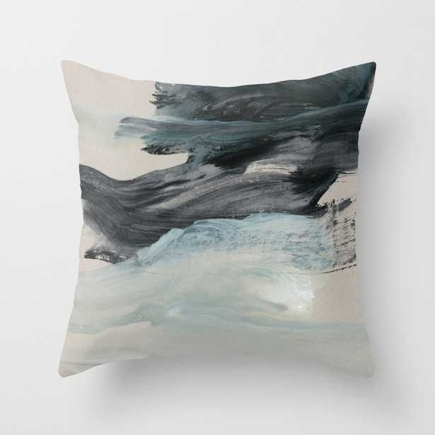 """minimal brushstrokes 3 Throw Pillow - Indoor Cover (18"""" x 18"""") with pillow insert by Patternization - Society6"""