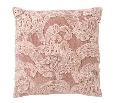 "Natalia Silk Jacquard Pillow Cover, 22"", Mauve - Pottery Barn"