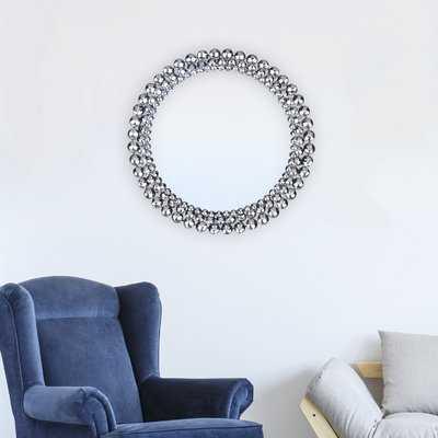 Wykoff Round Jeweled Accent Mirror - Wayfair