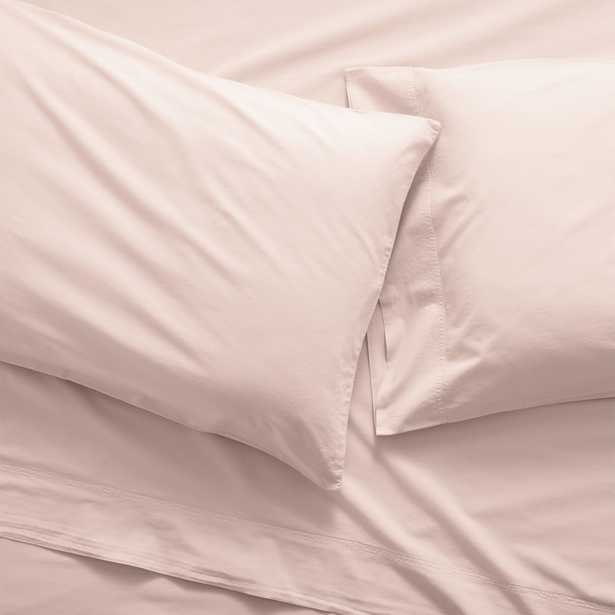 Washed Organic Cotton Blush Queen Sheet Set - Crate and Barrel