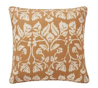 "Zama Print Pillow Cover, Mustard, 20"" - Pottery Barn"