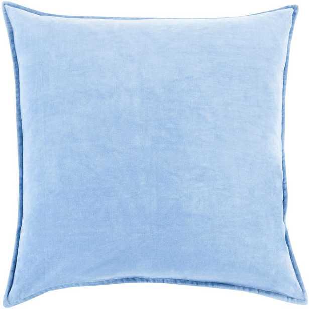 Velizh Poly Euro Pillow, Light Blue - Home Depot