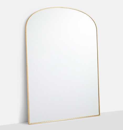 Arched Floor Metal Framed Mirror - Rejuvenation