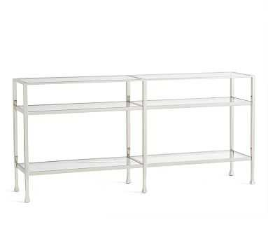 Tanner Long Console Table, Nickel finish - Pottery Barn