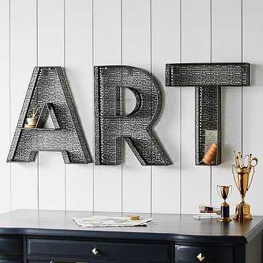 """Metal """"Art"""" Letters - Pottery Barn Teen"""