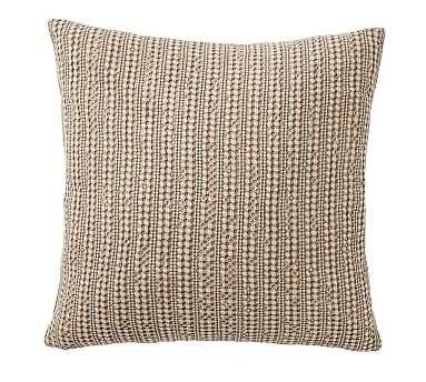 """Honeycomb Pillow Cover, 18"""", Driftwood - Pottery Barn"""