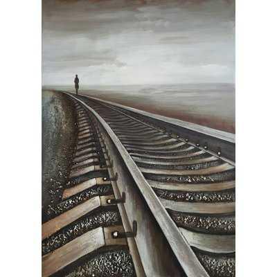 Railway II' Oil Painting Print on Wrapped Canvas - Wayfair