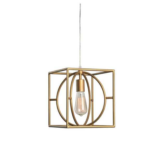 kenroy home Adele 1-Light Gold Swag Pendant - Home Depot