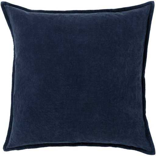 """Gabrielle Pillow, 20""""x 20"""", Charcoal Blue -Pillow Shell with Polyester Insert - Studio Marcette"""