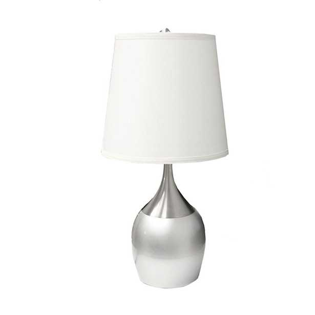 ORE International 24 in. Silver Touch-On Table Lamp - Home Depot
