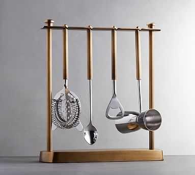 Bleecker Bar Hanging Tools, Set of 4 - Pottery Barn