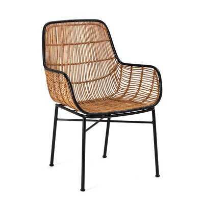 Mccullar Woven Wicker Armchair - Wayfair