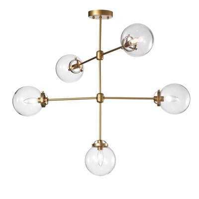 Wrought Studio Nieves 5-Light Sputnik Chandelier - Wayfair