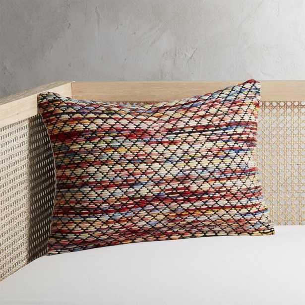 Hira Multicolored Pillow with Down-Alternative Insert - CB2