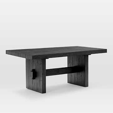 """Emmerson Dining Table 72"""", Ink Black Pine - West Elm"""