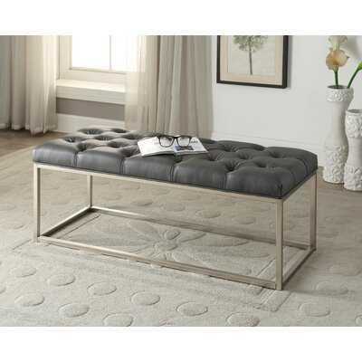 Yoakum Button-Tufted Upholstered Bench - Wayfair