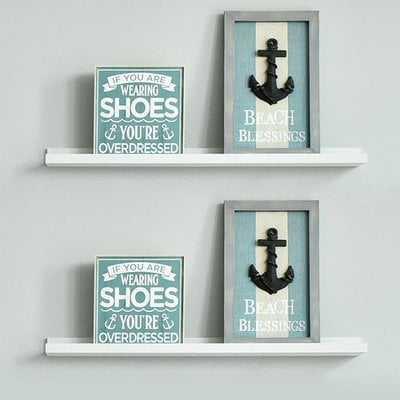 Duley Photo Ledge Picture Display Floating Shelf - set of 2 - Wayfair