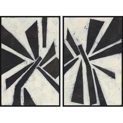 'Pinwheel Diptych' Graphic Art Set - Wayfair