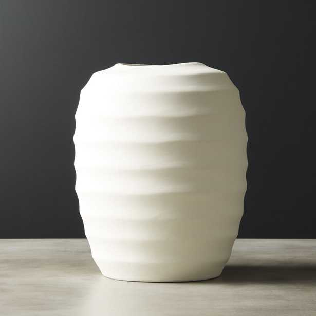 Camden Ivory Ceramic Vase - CB2