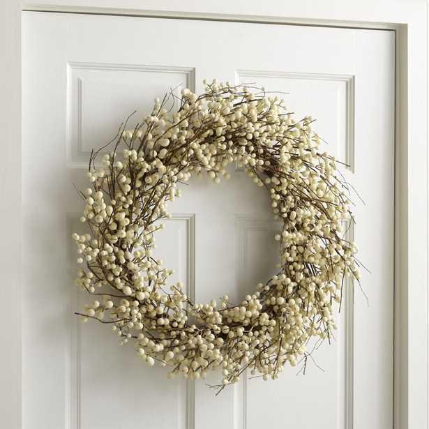 White Ilex Berry Wreath - Crate and Barrel