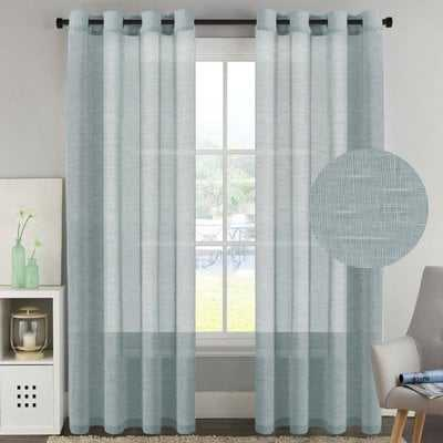 Angeline Solid Sheer Grommet Curtain Panels - AllModern