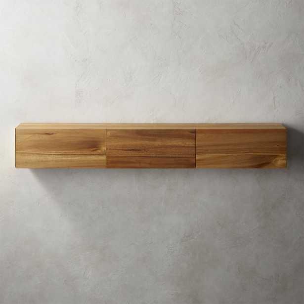 Hide N Seek Large Acacia Storage Shelf - CB2