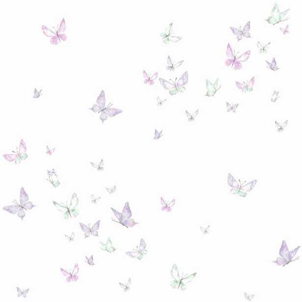 York Wallcoverings Watercolor Butterflies Wallpaper, Purple - Home Depot