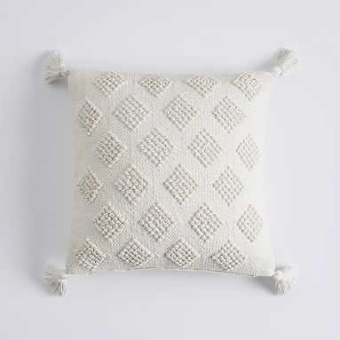 Diamond Loop Pillow Cover, 18 x 18, Ivory - Pottery Barn Teen