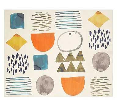 west elm x pbk Watercolor Exploration Rug, 8x10', Multi - Pottery Barn Kids